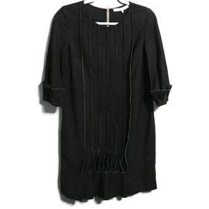 3.1 Phillip Lim Linen Blend Black Shift Dress Sz 2